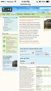 ecovote.org pre-optimization