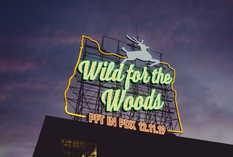 Wild for the Woods event identity photo illustration
