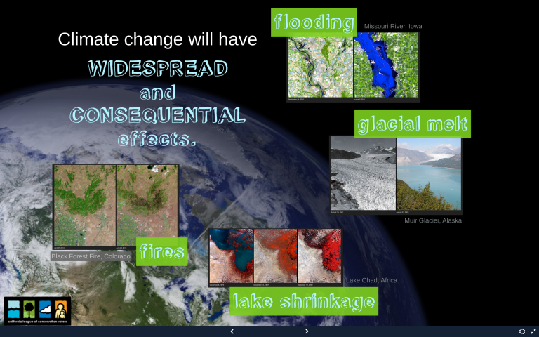 Screenshot from CLCV Climate Project Prezi, 2014